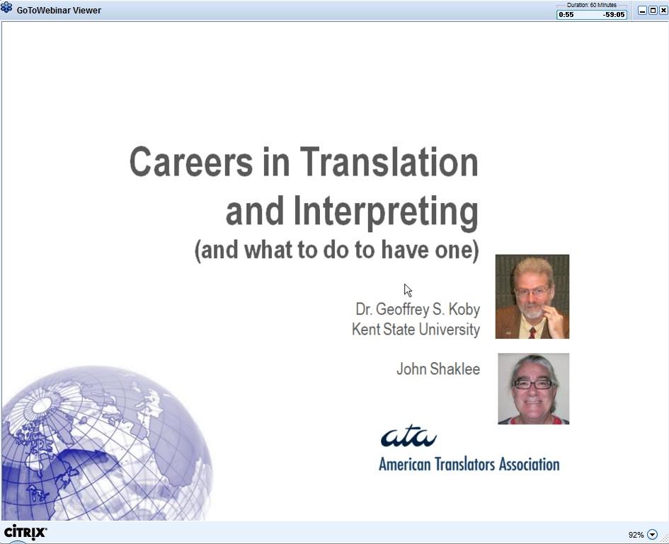 Careers in Translation and Interpreting